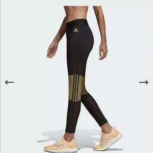 NWT ADIDAS W ID Mesh Glam Tight DX7937 XS